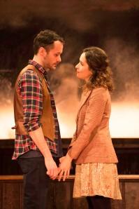 Declan Bennett (Guy) and Zrinka Cvitesic (Girl) in Once. Photo Credit Manuel Harlan